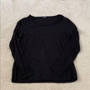 Soma Cool Nights Long Sleeve Black Pajama Top.